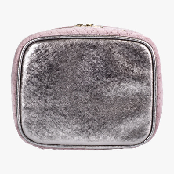 Louise Travel Case - Milan Milan Louise Travel Case in Dusty Plum Bottom View in  in Color:Dusty Plum in  in Description:Bottom