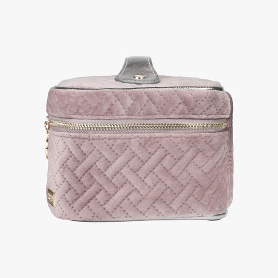 Louise Travel Case - Milan Milan Louise Travel Case in Dusty Plum Side View in  in Color:Dusty Plum in  in Description:Side