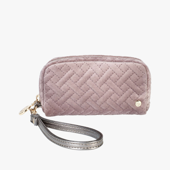 Mini Pouch Wristlet - Milan Milan Mini Pouch Wristlet in Dusty Plum Front View in  in Color:Dusty Plum in  in Description:Front