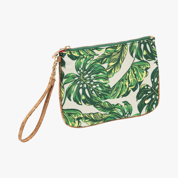 Large Flat Wristlet - Seychelles Seychelles Large Flat Wristlet in Green Quarterfront View in  in Color:Green in  in Description:Angled View