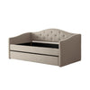 Fairfield Tufted Fabric Day Bed with Trundle, Twin/Single