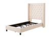 Tufted Fabric Bed with Wings, Twin/Single