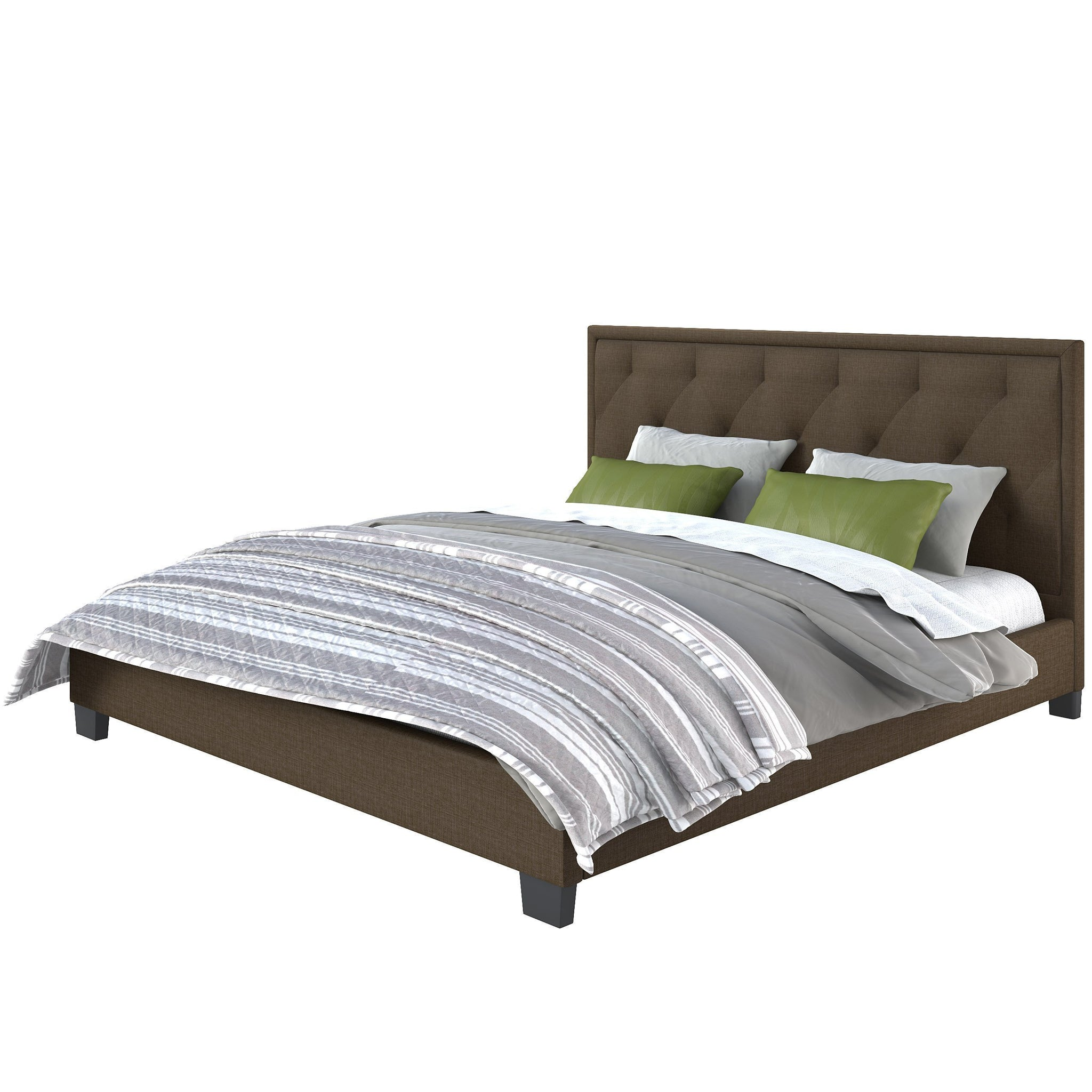 Fairfield Diamond Tufted Upholstered King Bed Clearance Final Sale Corliving Furniture Us