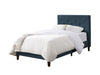 Twin/Single Diamond Button-Tufted Bed and Frame