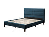 Bellevue Wide-Rectangle Panel Upholstered Bed and Frame Queen