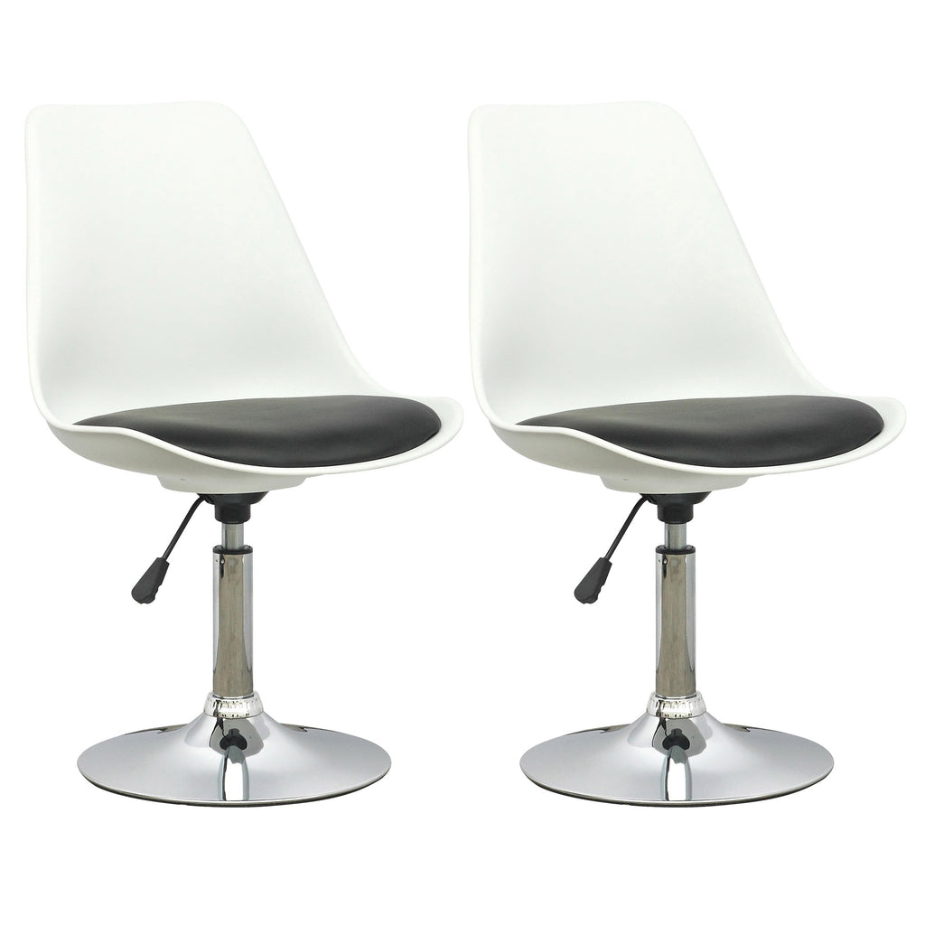 Modern Adjustable Chair in Leatherette Seat, set of 2 - *CLEARANCE*