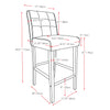 Antonio PU Leather Bar Height Bar Stool with Footrest