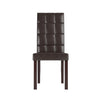 Dark Brown Leatherette Dining Chairs, Set of 2