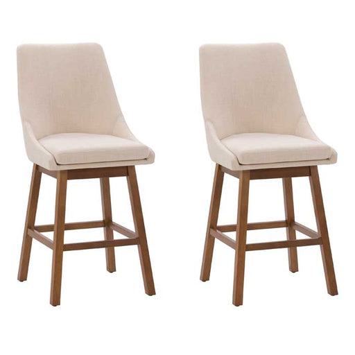 Boston Formed Back Fabric Barstool, Set of 2