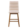 Boston Channel Tufted Fabric Barstool, Set of 2