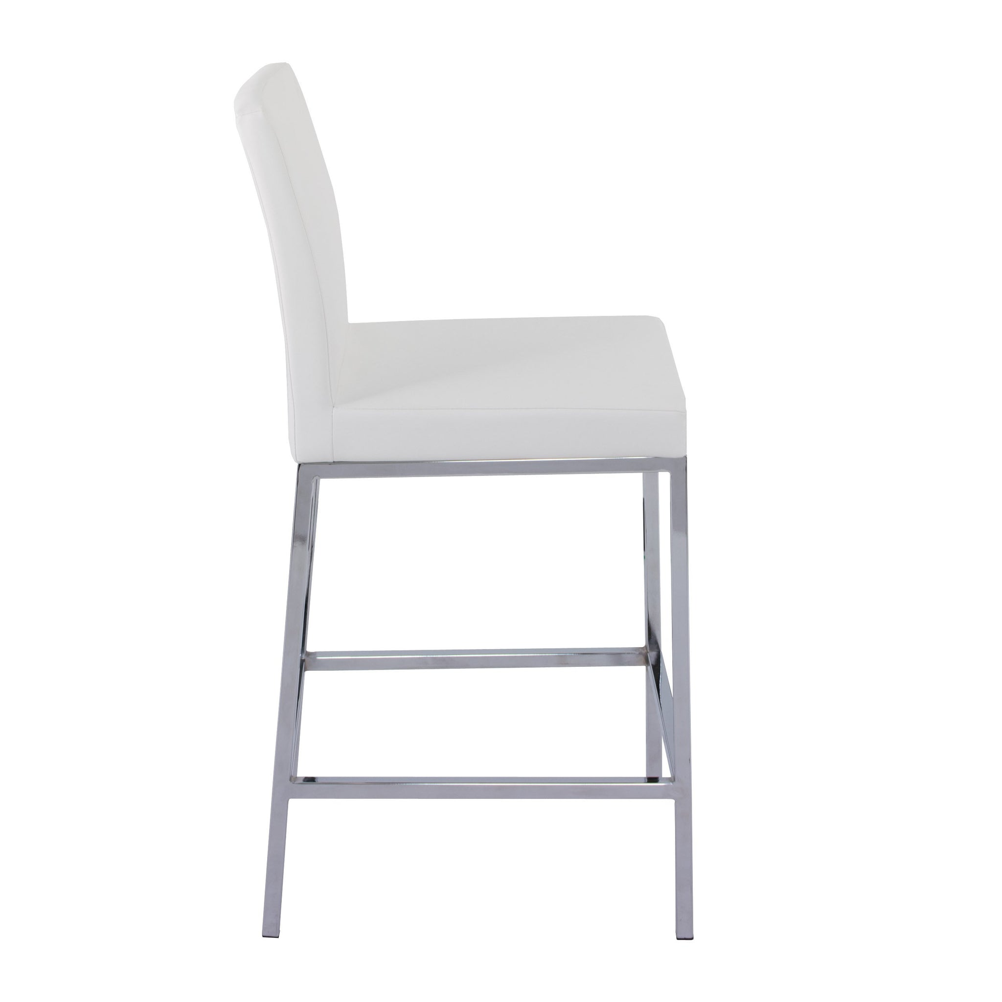 Picture of: Huntington Pu Leather Bar Stools With Chrome Legs Counter Height Set Corliving Furniture Us