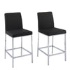 "Huntington PU Leather Bar Stools with Chrome Legs, Counter Height, Set of 2 - <body><p style=""color:#ED1C24"";>*CLEARANCE - Final Sale*</p></body>"