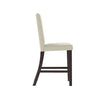 Bistro White Leatherette Counter Height Dining Chairs, Set of 2