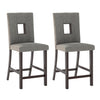 Bistro Sand Fabric Counter Height Dining Chairs, Set of 2