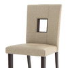 Sand Fabric Counter Height Dining Chairs, Set of 2