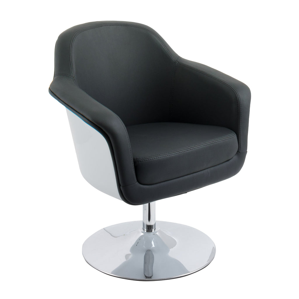 Modern Bonded Leather Accent Chair