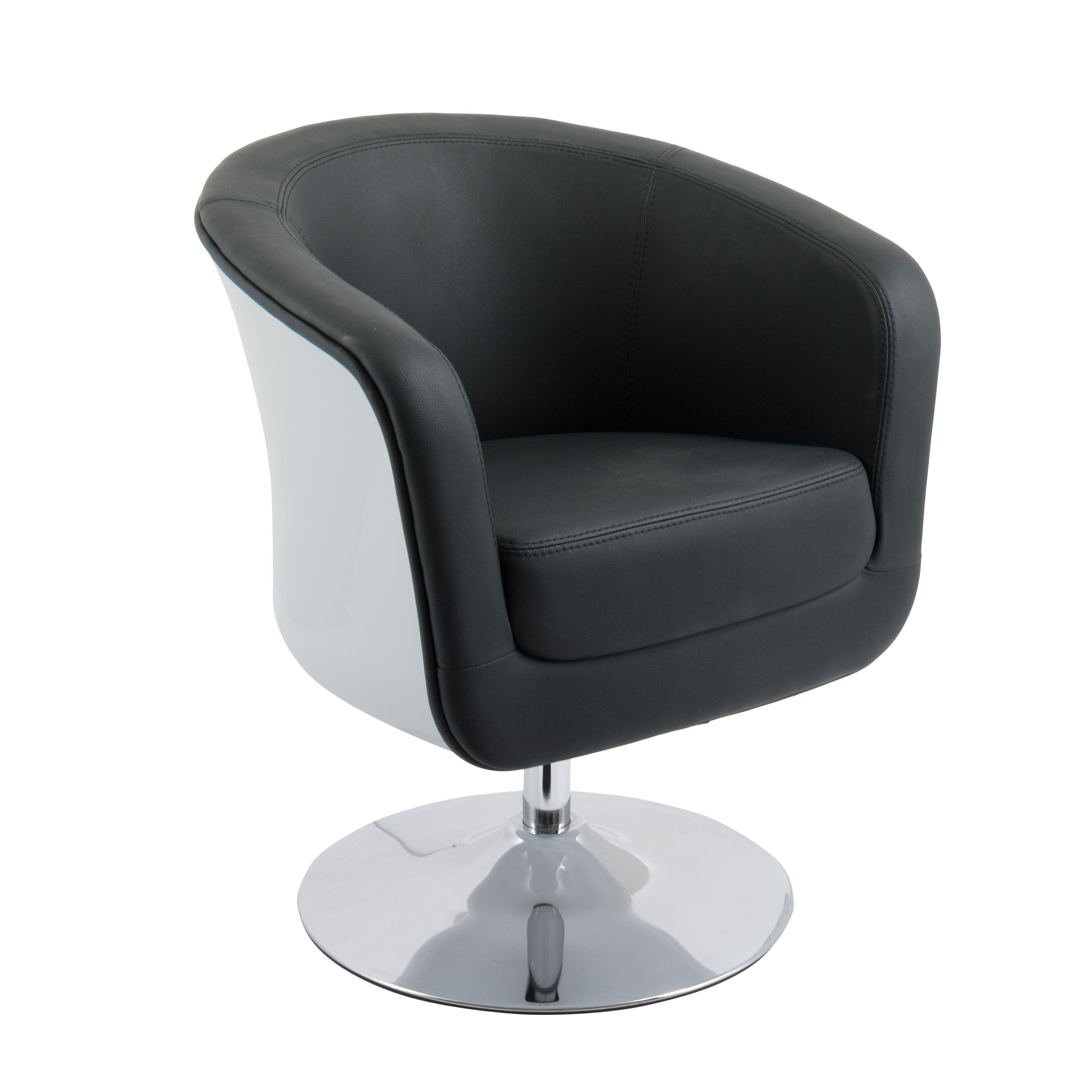 Modern Bonded Leather Tub Chair Clearance Corliving