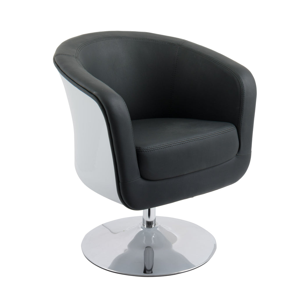 Modern Bonded Leather Tub Chair - *CLEARANCE*