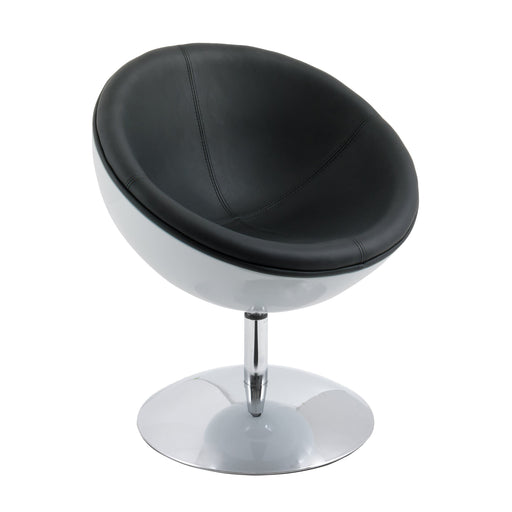 Modern Bonded Leather Circular Chair
