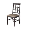 Cappuccino Stained Dining Chairs with Leatherette Seat, Set of 2 - *CLEARANCE*