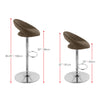 Round Open Back Fabric Adjustable Barstool, Set of 2 - *CLEARANCE*