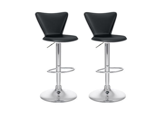 Tufted Square Backrest Bar Stool Set of 2