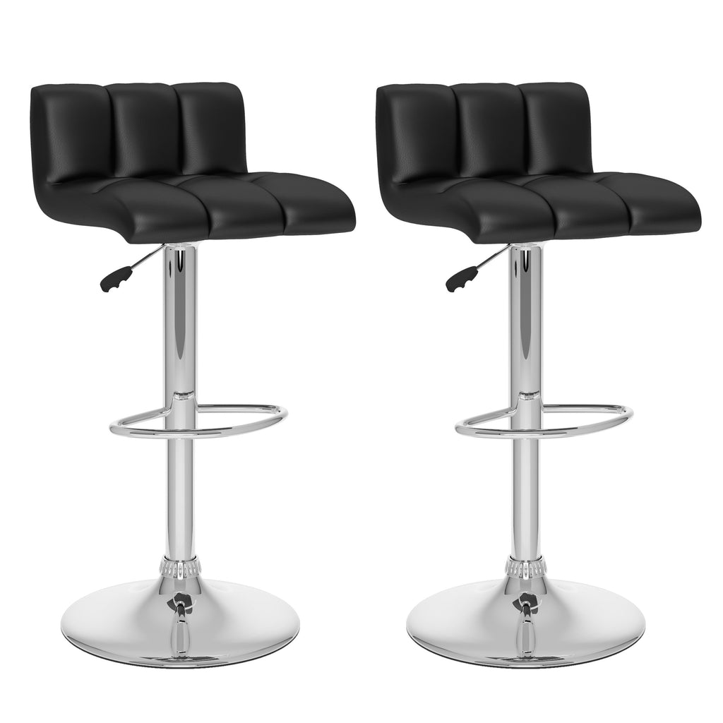 Adjustable High back Bar Stool Set of 2 - *CLEARANCE*