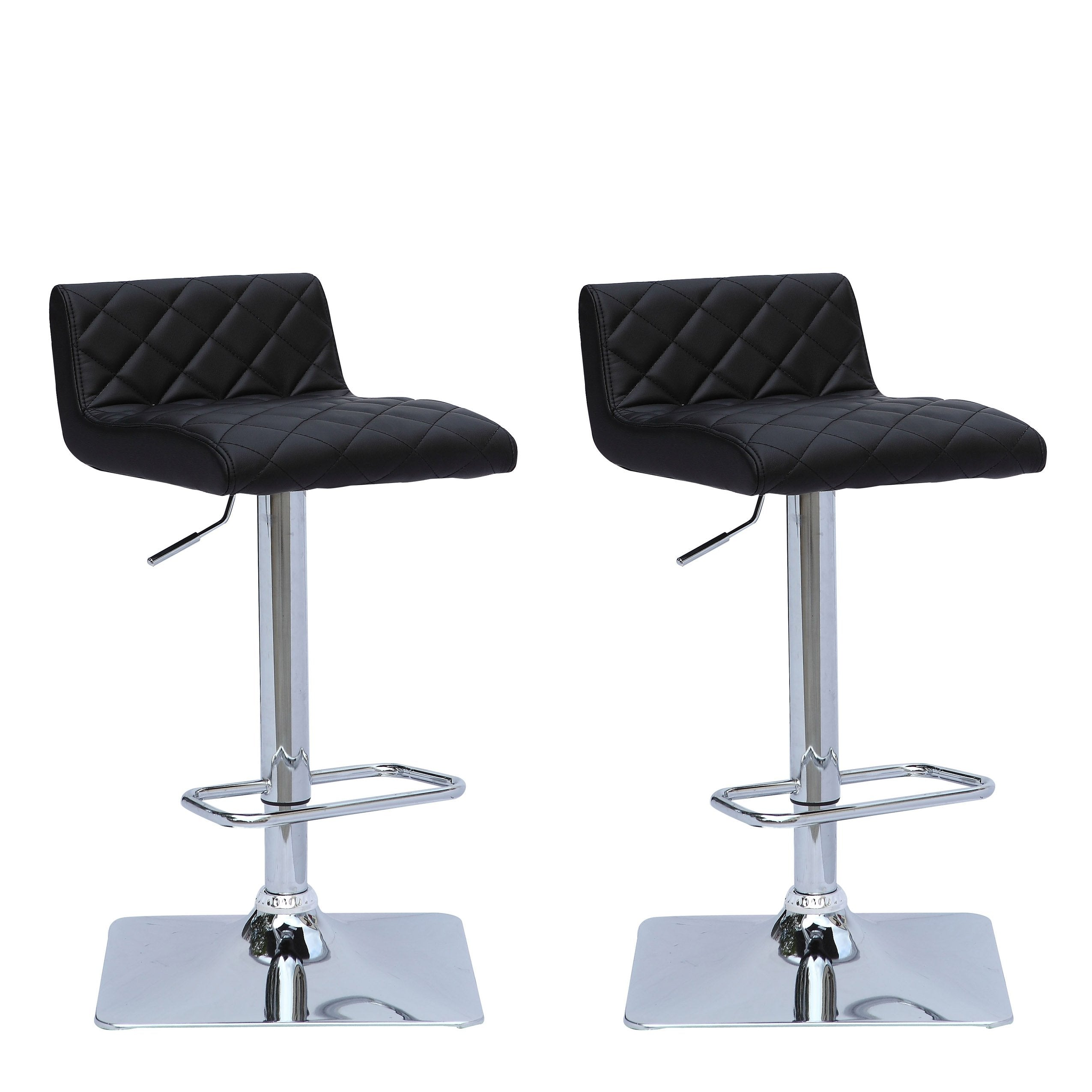 Groovy Adjustable Low Back Square Tufted Bar Stool Set Of 2 Clearance Pabps2019 Chair Design Images Pabps2019Com