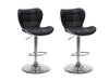 Adjustable Square Tufted Bar Stool Set of 2