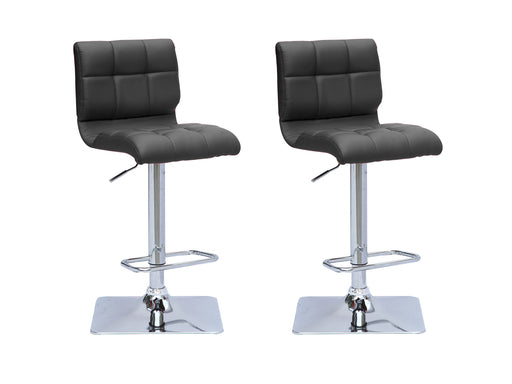 Square Mid Back Bar Stool Set of 2