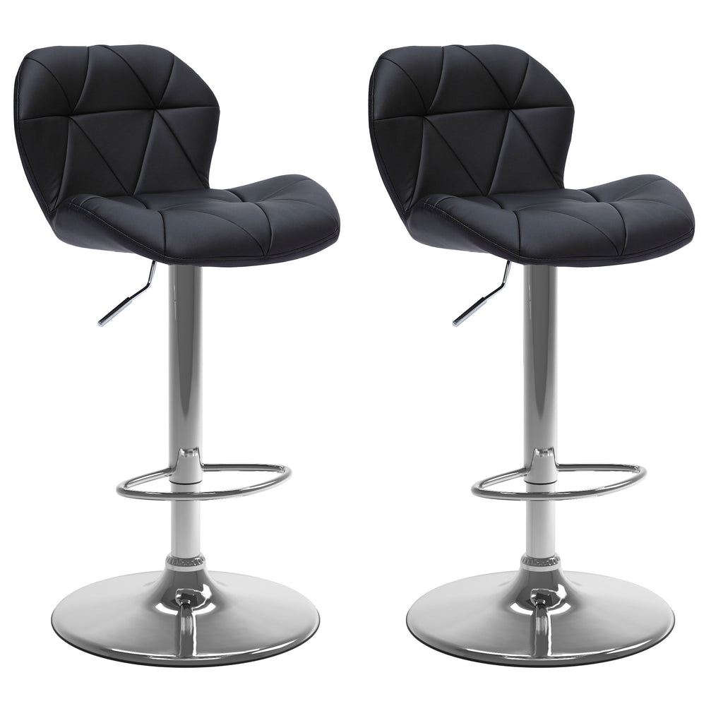 Triangle Tufted Bar Stool Set of 2