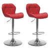 Adjustable Triangle Tufted Bar Stool Set of 2