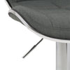 Adjustable Chrome Accented Bar Stool in Fabric, set of 2