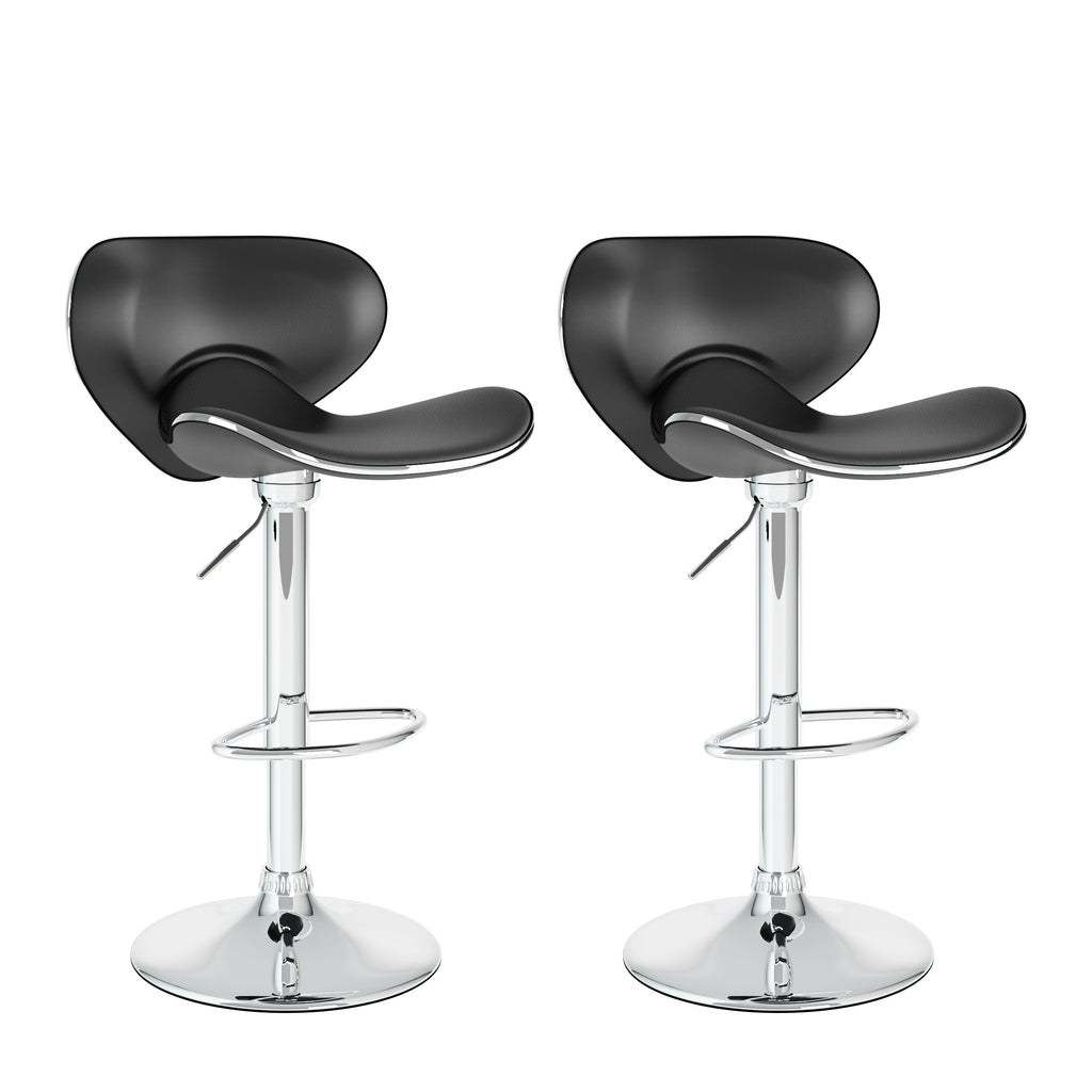 Adjustable Curved Form Bar Stool Set of 2