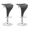 Adjustable two tone bar stool Set of 2