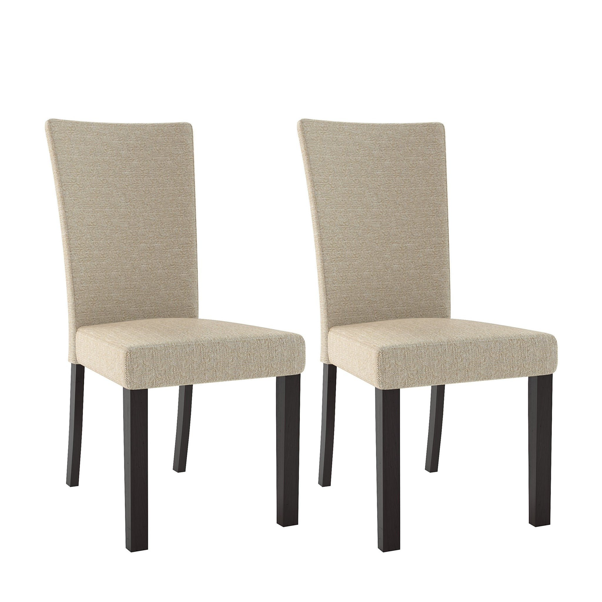 Fabric Bistro Dining Chairs Set Of 2 Clearance