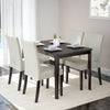 Atwood Dining Set, with Cream Leatherette Seats 5pc - *CLEARANCE*