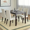 Atwood Dining Set, with Cream Leatherette Seats 5pc