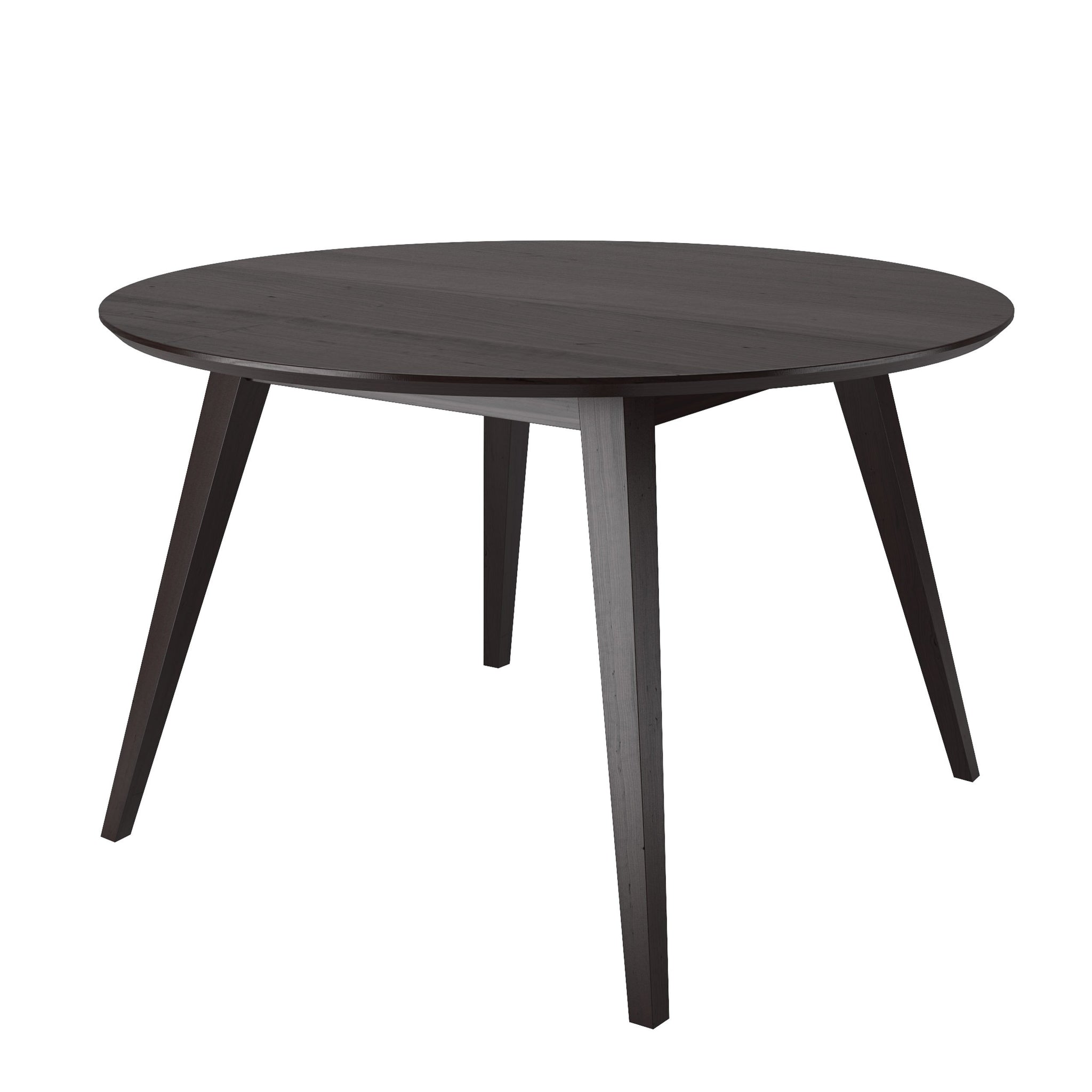 Atwood Round Cappuccino Stained Dining Table Clearance Final Sale Corliving Furniture Us