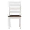 Solid Wood Dining Chairs with Horizontal Slats, Set of 2 - *CLEARANCE*