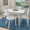 5pc Extendable White Wooden Dining Set - *CLEARANCE*