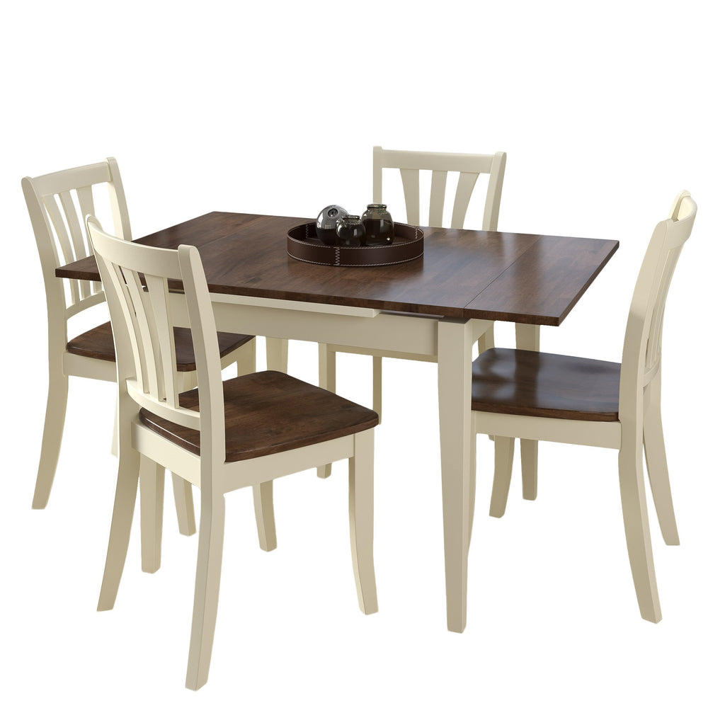 Dillon Extendable Stained Solid Wood Dining Set 5pc- *CLEARANCE*