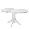 Extendable Oval Pedestal Dining Table with 12in Butterfly Leaf