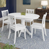 Dillon Extendable Cappuccino Stained Solid Wood Dining Set 5pc