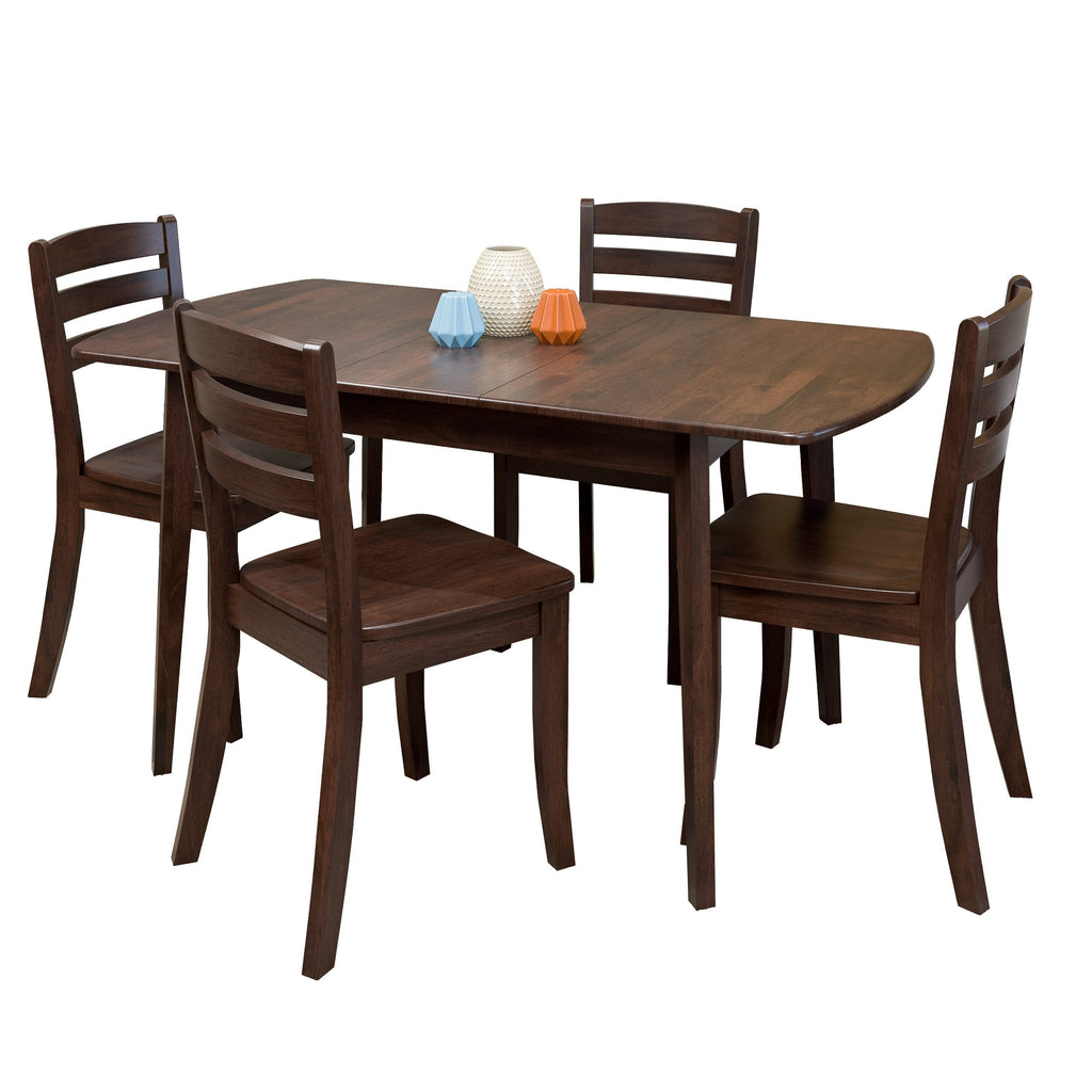 5 Piece Extendable Solid Wood Dining Set Clearance