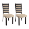 Ladder Back Cream Dining Chairs, Set of 2 - *CLEARANCE*