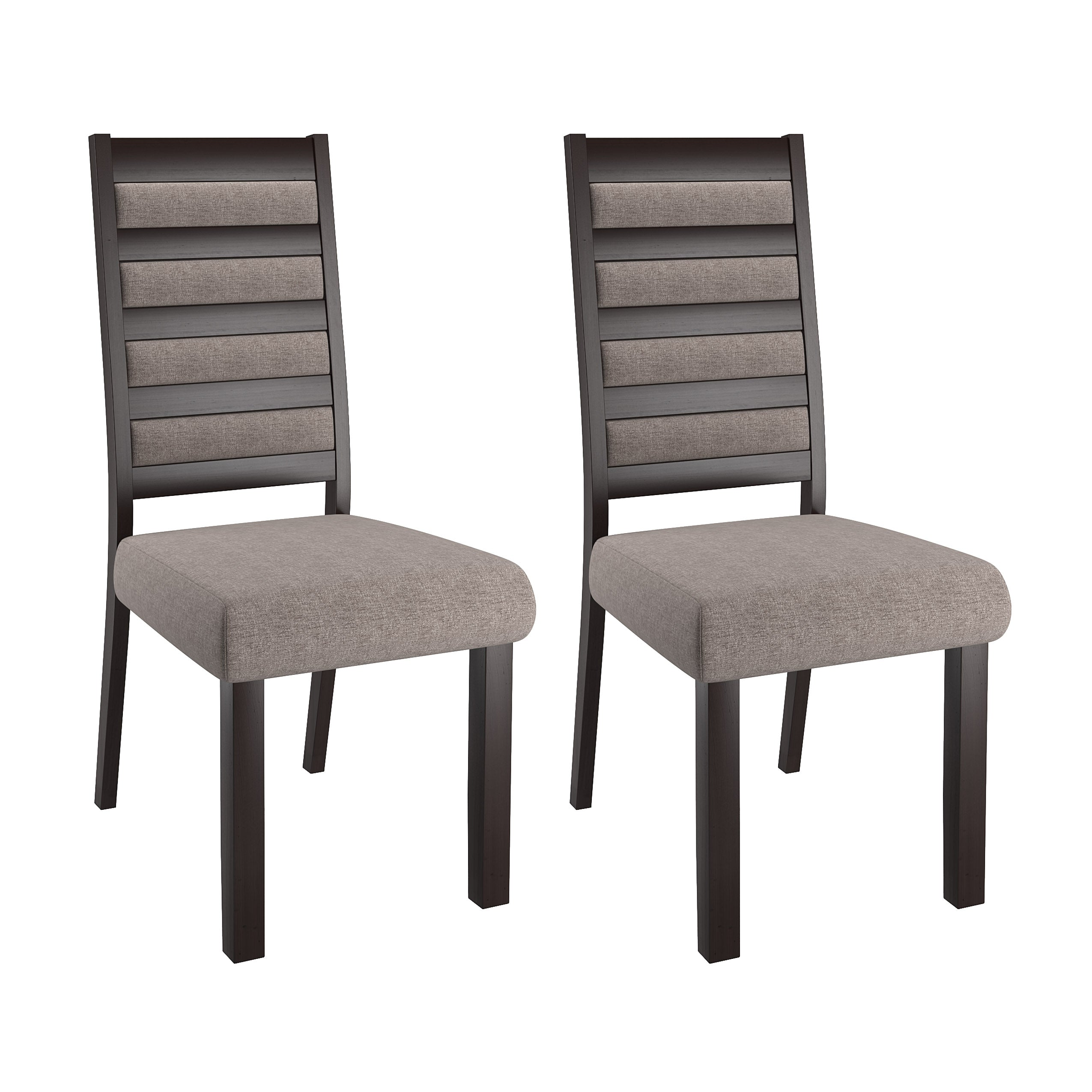 official photos 7a751 07577 Ladder Back Grey Dining Chairs, Set of 2 - *CLEARANCE*