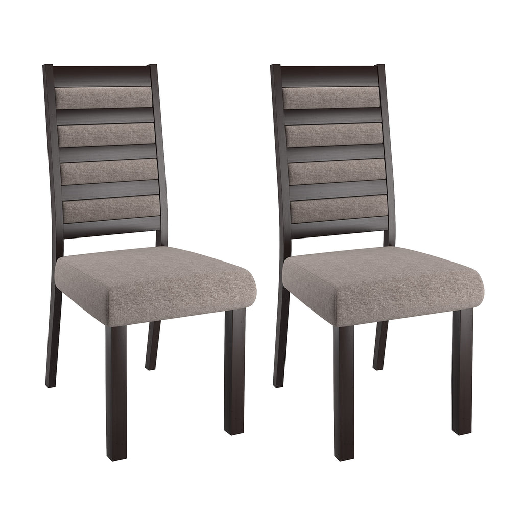 Bistro Ladder Back Gray Dining Chairs, Set of 2 - *CLEARANCE*