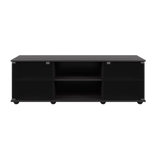 Holland Black Wooden TV Stand, for TVs up to 64""