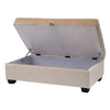 Antonio Velvet Like Fabric Storage Ottoman
